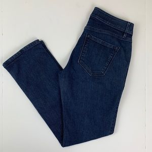 LOFT Ann Taylor Curvy Straight Dark Wash Jeans 28